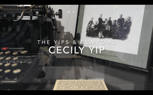 Title page of movie: The Yips & Cumyows. Linda Yip
