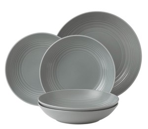 Gordon Ramsay Pastaborden Set Maze Grey 5-Delig