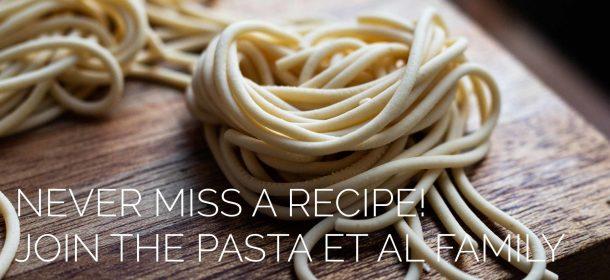 close up of fresh handmade spaghetti pasta