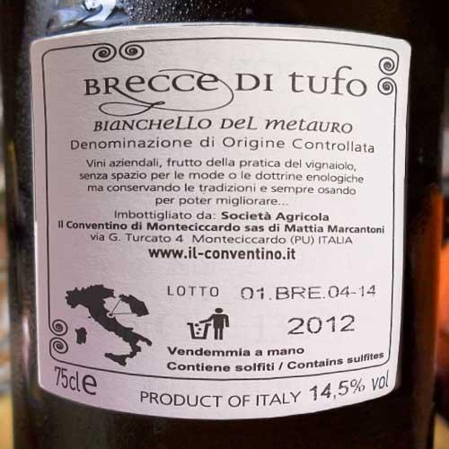 Wijn etiket met D.O.C. Certificering