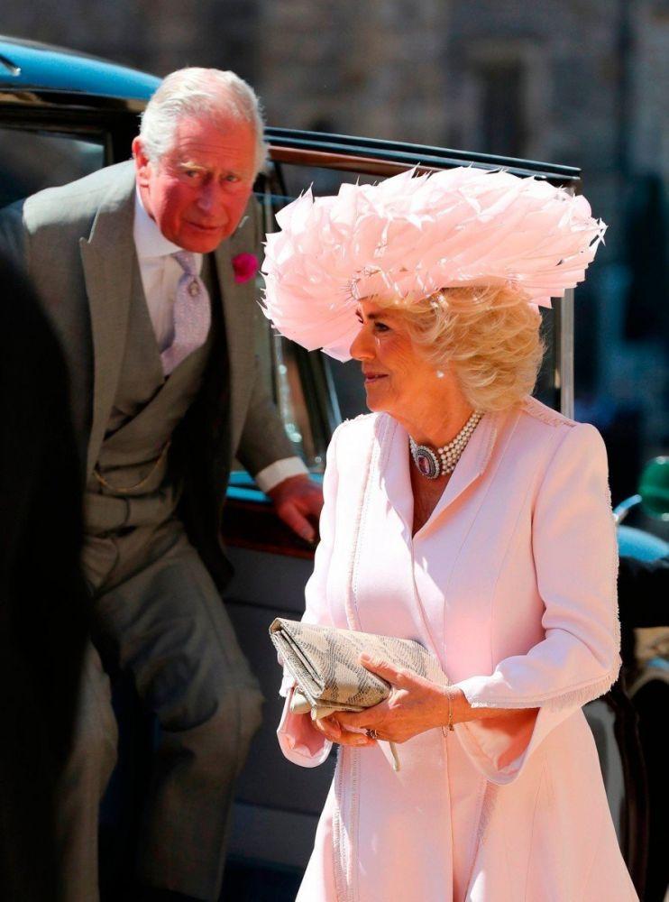 Carlo e Camilla, il principe di Galles e la duchessa di Cornovaglia, al Royal wedding di Harry e Meghan, foto Gareth Fuller/Press Association
