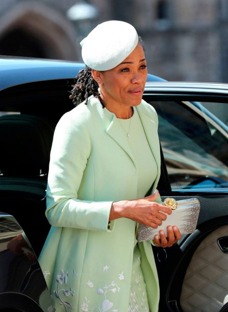 La madre della sposa Doria Ragland al Royal wedding di Harry e Meghan, foto Gareth Fuller/Press Association