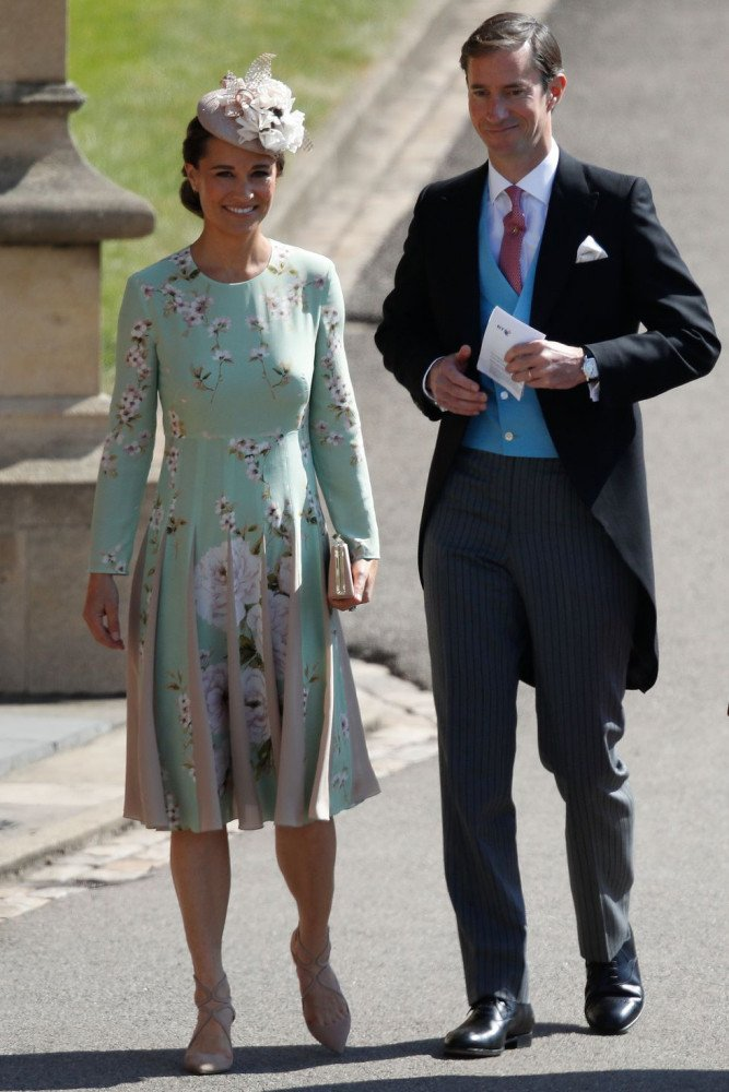 Pippa Middleton con il marito James Matthews al Royal wedding di Harry e Meghan