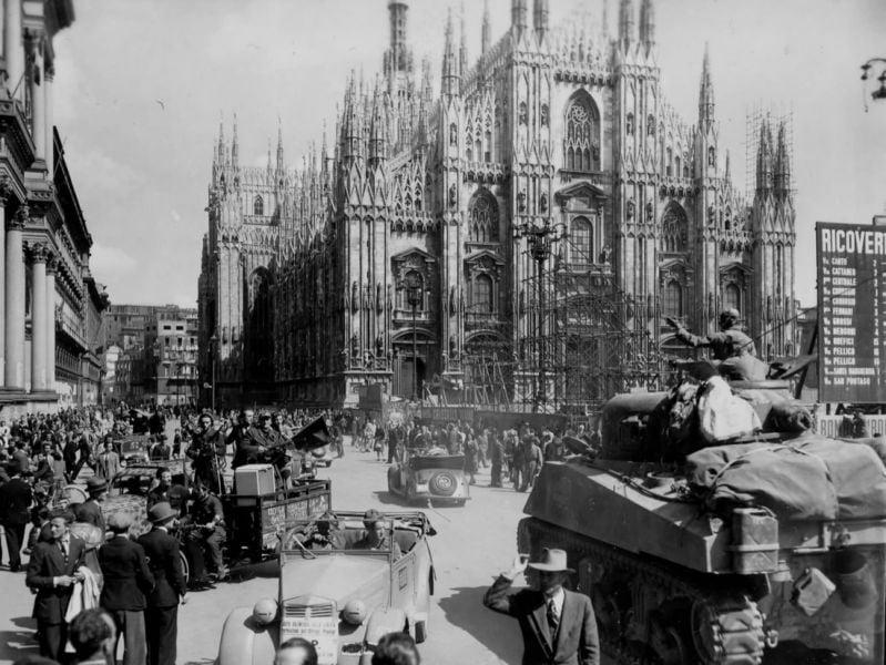 L'esercito americano a Milano il 29 aprile 1945