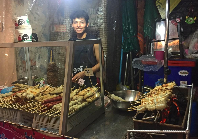Food stall nella Chinatown di Bangkok