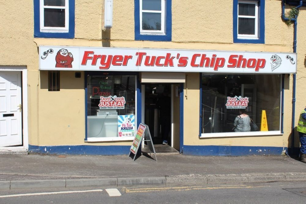 Fryers Tuck's Chips Shop a Beith, foto Billy McCrorie