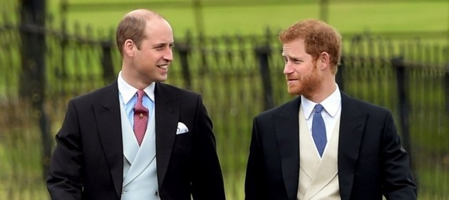 Harry e William al matrimonio di Pippa Middleton