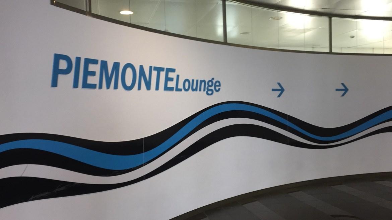L'ingresso della Piemonte Lounge all'aeroporto di Torino