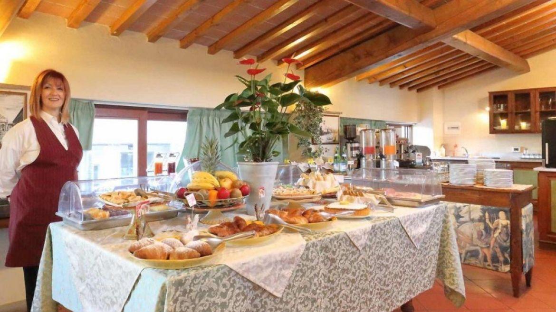 La colazione a Villa Castelletti a Signa