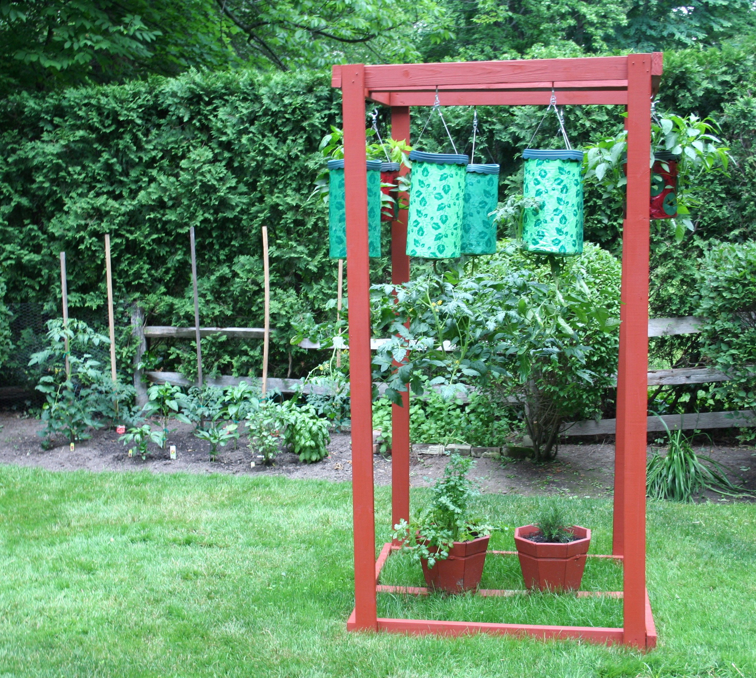 Topsy Turvy Planter Stand   Year Of Clean Water