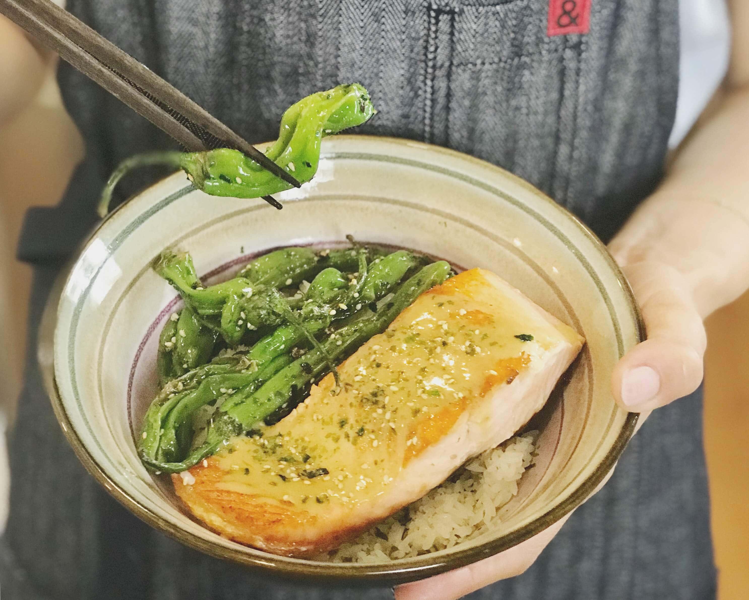 Grilled Miso Salmon Donburi