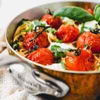 Roasted Tomato Burrata Spaghetti