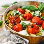 tomato and burrata spaghetti