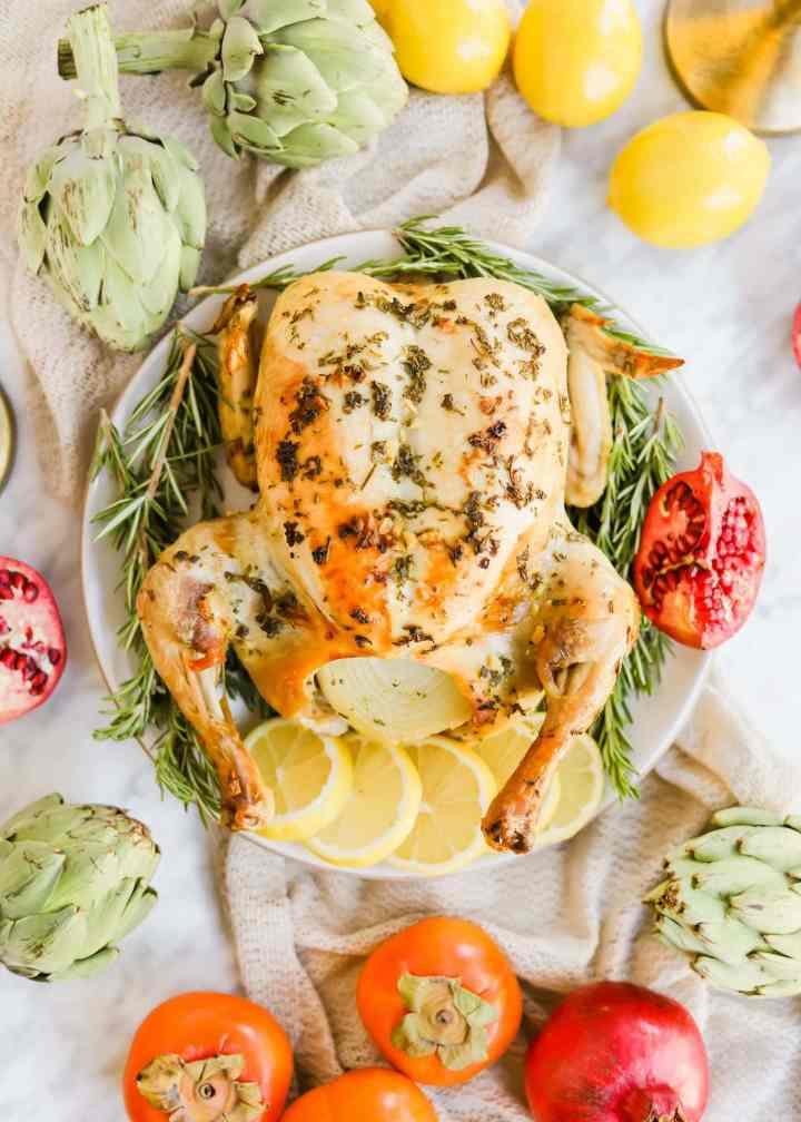 Meyer Lemon Roasted Chicken