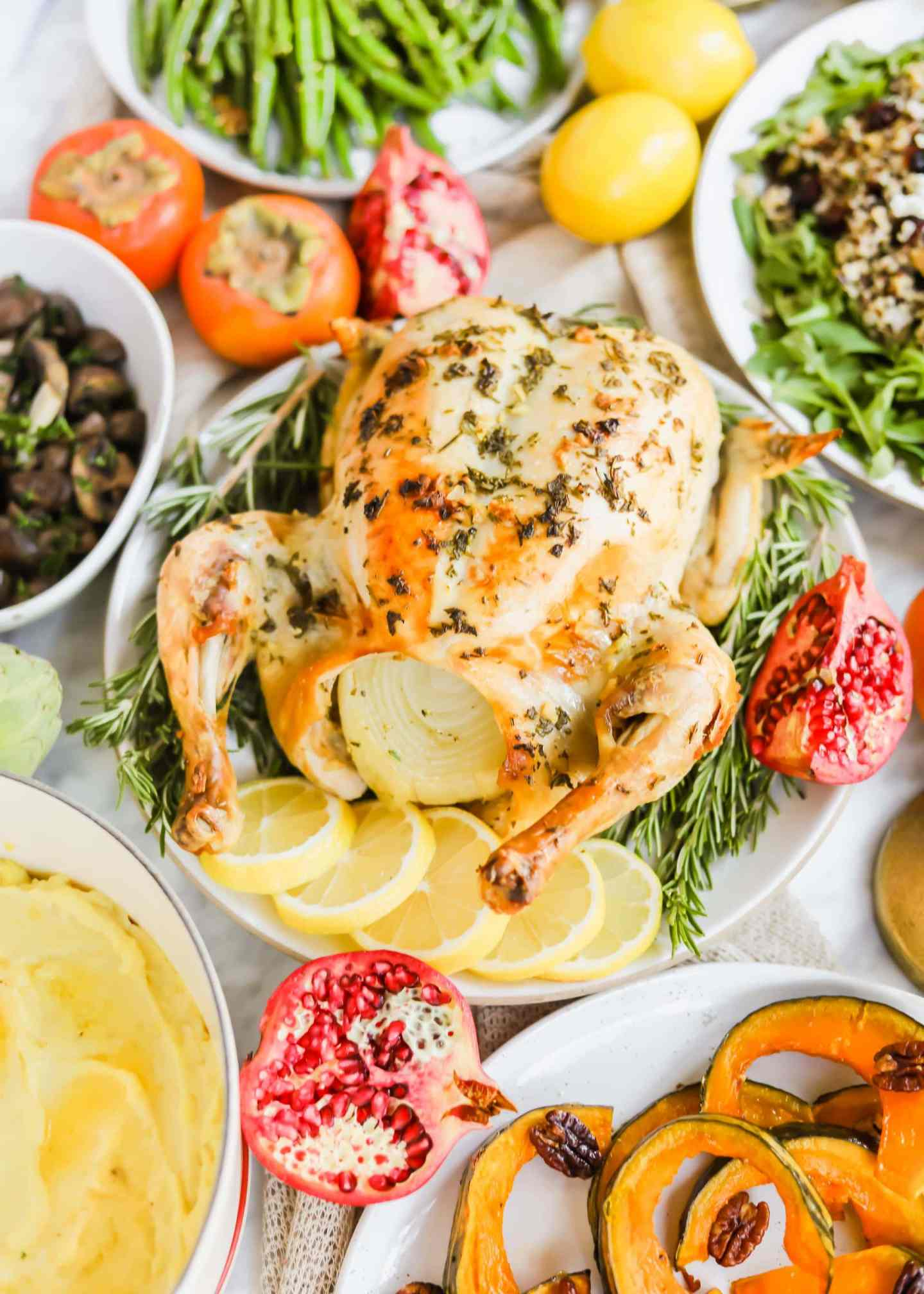 Meyer Lemon Roasted Chicken California Thanksgiving