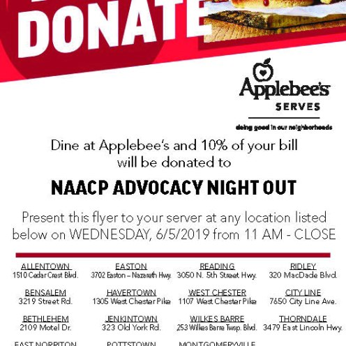 applebees dine to donate rose group flyer