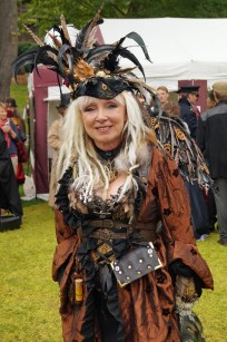 Steampunked and feathered lade