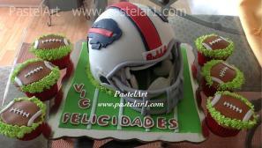 Casco 3D Buffalo y cupcakes