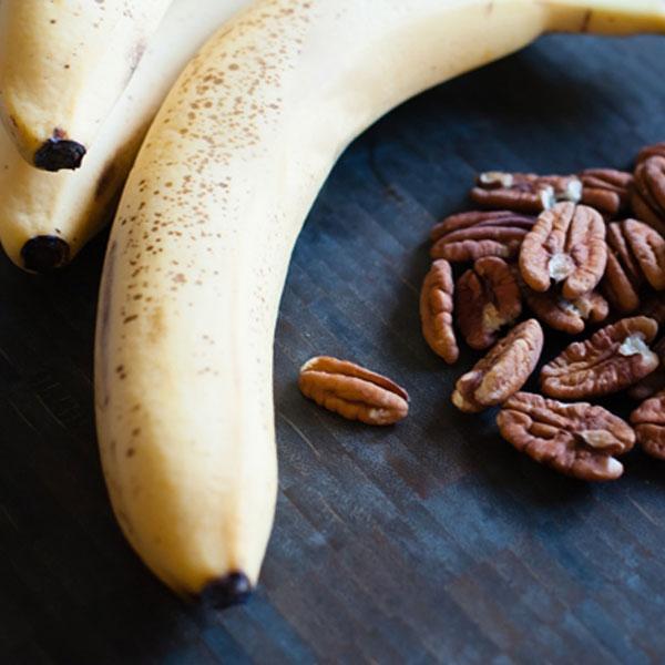 plátanos y nueces