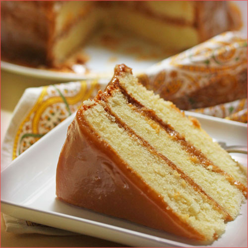 pastel de caramelo terminado