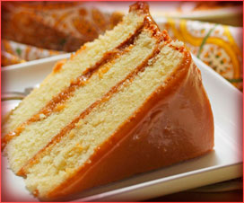 pastel de caramelo