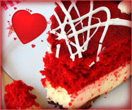 Cheescake con red velvet