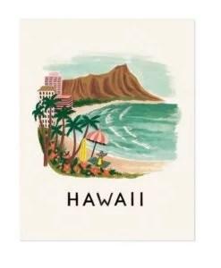 Affiche Hawaï Rifle Paper Co