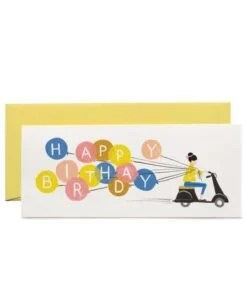 Carte Anniversaire Scooter et ballons Rifle Paper Co
