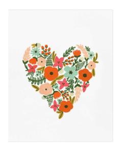 Affiche Rifle Paper Co Floral Heart