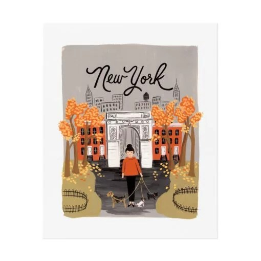 Affiche Rifle Paper Co New York Automne