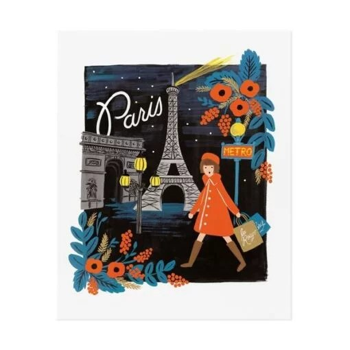 Affiche Rifle Paper Co Paris Travel