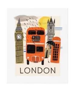 Affiche Rifle Paper Co Londres Travel
