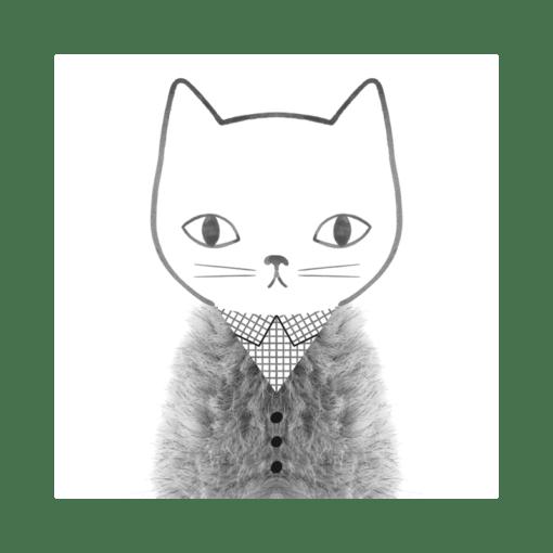 Carte Grid and Fur Audrey Jeanne