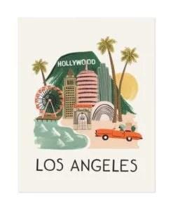 Affiche Rifle Paper Co Los Angeles