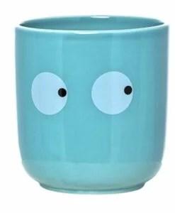 Pot visage Bloomingville bleu