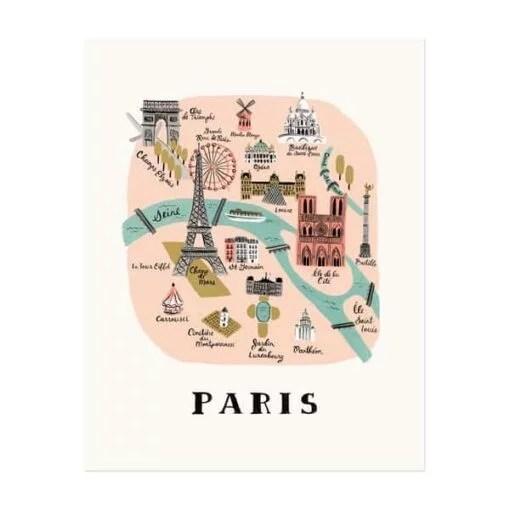 Affiche Paris Rifle Paper Co