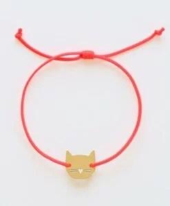 Bracelet chat Audrey Jeanne – Au choix Or / Argent