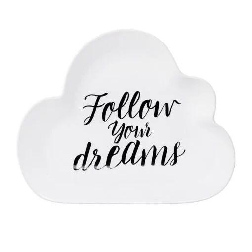 Assiette nuage Bloomingville Follow your dreams