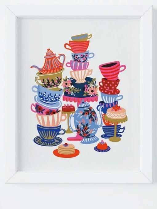 Affiche Rifle Paper Co Teacups