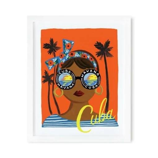 Affiche Cuba Rifle Paper Co 2 Formats au choix