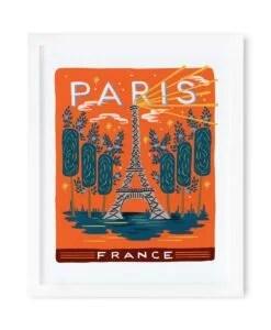 Affiche Paris Rifle Paper Bon voyage