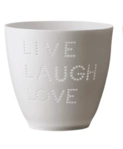 Photophore Bloomingville Live, Laugh, Love