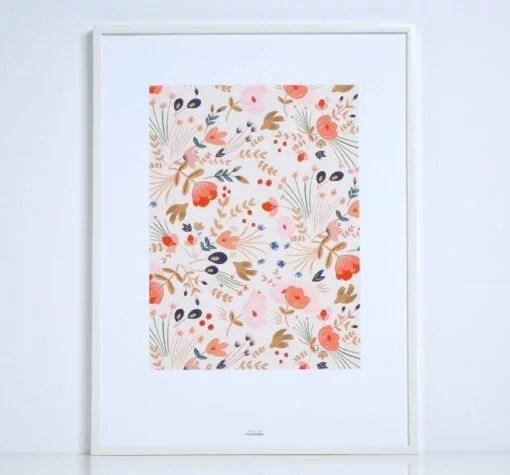 Affiche Fleurs Folk Season Paper A4 / A3