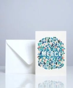 Carte Merci Feuillages Season Paper