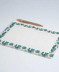 Semainier Cactus Season Paper