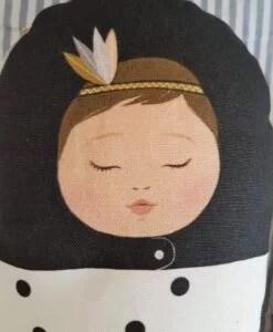 Coussin bébé Indien Noir Minimel