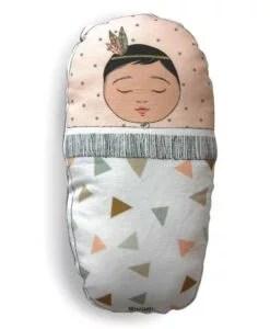 Coussin bébé Indien rose Minimel
