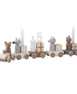 Petit train en bois Anniversaire Bloomingville Mini