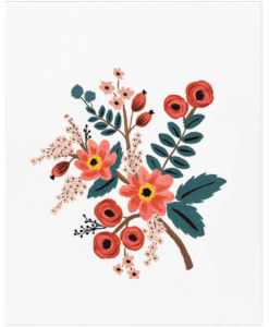 Affiche Coral Botanical Rifle Paper Co