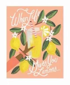 Affiche Citrons Lemons to Lemonade Rifle Paper